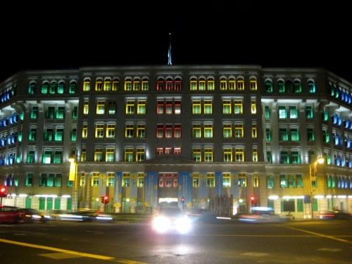 MICA Building yang warnanya unyuk