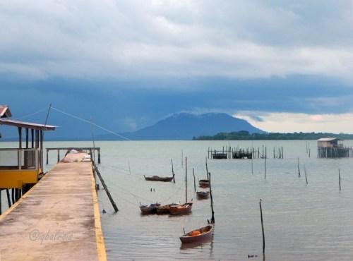 Gunung Bintan tampak dari Tanjung Sebauk