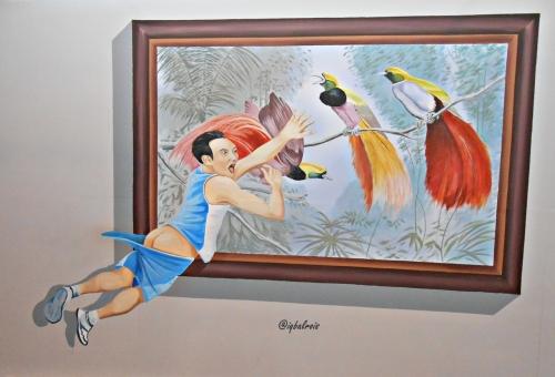 99,9% orang akan berpose sama di lukisan ini :D